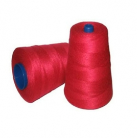 Industrial Sewing Thread - Unwaxed (200g) Red