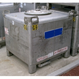 Stainless Steel IBC (Side Drain)