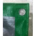 PE Green Silver Canvas Sheet
